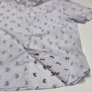 Disney Mickey Mouse  Button Up Shirt NWOT